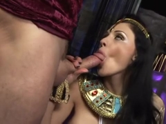Horny sluts Amanda Black and Aletta Ocean enjoy a fucking in public places