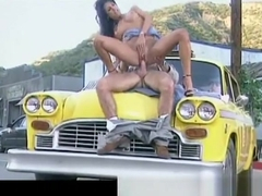 Sydnee Steele  having sex on the taxi