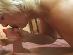 Cute buxomy experienced lady is getting cumshot