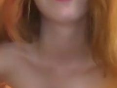 slutty redhead try to talk dirty - webcam