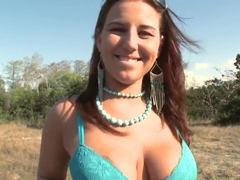 Busty Lexxxi Lockhart enjoys anal in the nature