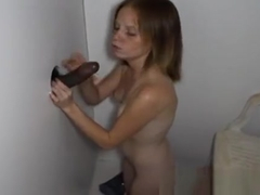Alyssa Hart Sucking Off Glory Hole Cocks