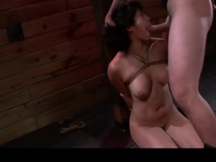 Deep throat and bondage makes Mia Li super wet and horny