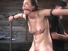 Slave anal fingered and zippered