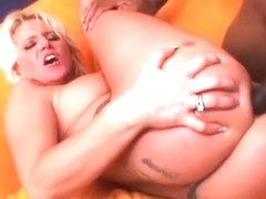 Blond whore Summer Storm gets her anus part4