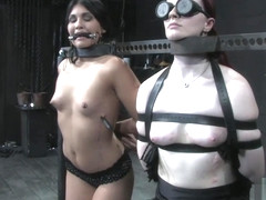 Jade Indica - Three Models Suffer on Their Knees Live, Part 1