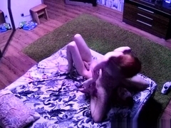 Redhead seduced a young guy,they were in position 69, and then he fucked 3