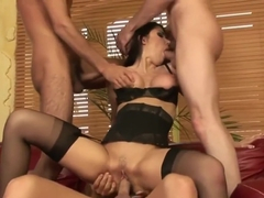 First Gangbang For Hot Brunette Eva Karera