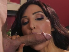 Wonderful deep throat blowjob for the gigantic cock