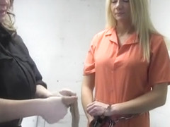 Handcuffed in Jail