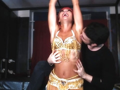 RussianFetish - Alsu's Sexy Belly Dancing in 3 Outfits and Tickling her Body