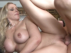 Real stepmom banged in the kitchen