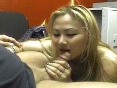 Asian Beauty Sucks Cock For Fame