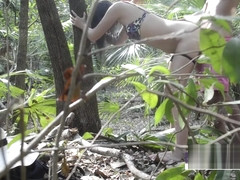 SHE SHOWS ME HER TITS IN PUBLIC - FUCKING IN THE JUNGLE - SWAMATEURCOUPLE