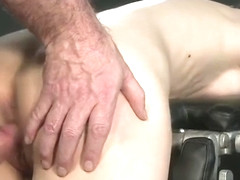 Italian Sub Gets Her Ass And Mouth Fucked