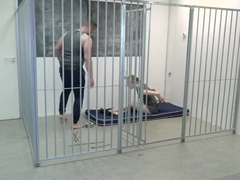 prison guard in bondage