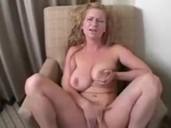 Busty jerk off lesson