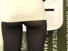 Jeny Smith spy cam public up skirt pantyhose fetish