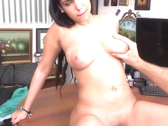 Lascivious lady Ada Sanchez with huge tits and throbbing tool