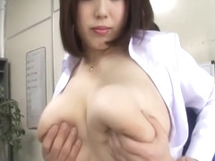 Japanese Lady With Massive Tits Gives Pleasure