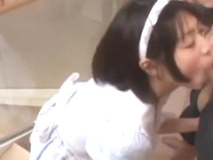 Horny Japanese whore Maki Sarada in Amazing Stockings, POV JAV video