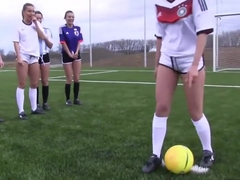 Horny Soccer Girls Love To Get Naked