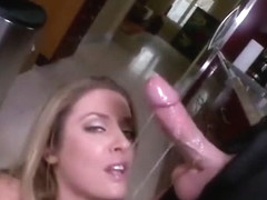 Sheena Shaw slobbering all over cock