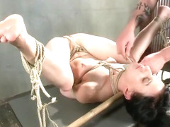 Unearthly Elise Graves in hot BDSM scene