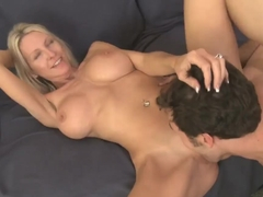 Mature Emma Starr gets a fat cock treat in her cunt!