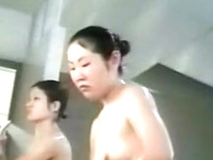 Hidden cam in an asian shower room