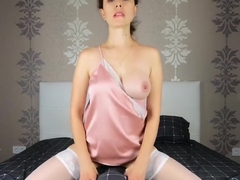Masturbation with a pillow, loud moans of a young milf - CatherineRain