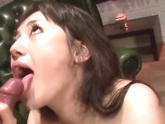 JAV Big breasted babe Azusa Nagasawa gives an asian blowjob