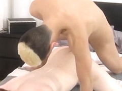 Bottom twinkie takes a hard dick in his tight asshole