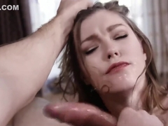 ROUGH THROAT FUCK AND FACIAL FOR HOT BLONDE ELLA NOVA