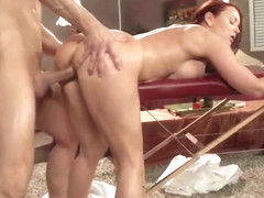 Fetching red-haired maried woman Janet Mason gives an amazing BJ