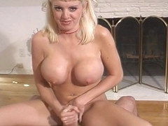 Busty Blonde Candy Gets Drilled By A Black Cock.