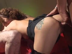 Beautiful Runa Mikami girl double blowjob