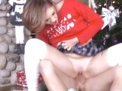 Fucking Step Sister Riley Mae During Family Christmas Picture