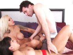 Mercedes Carrera - Birthday Threesome Cougar Sandwich 2