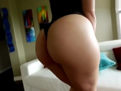 Gorgeous brunette Gabriella Paltrova super hot twerk tease in bodysuit