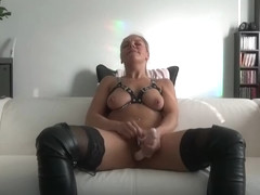 OMG, my sexy wife gets 100% real orgasm on cam for as my birthday gift