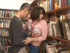 Japanese glasses girl get fuck with her jeans 4