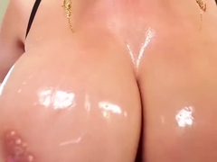 Milf sucks huge pole pov