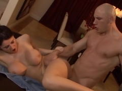 Hot bitch Eva Karera gets her bean flicked and cock drilled deep
