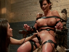 Phoenix Marie  Bobbi Starr in Phoenix Marie Suffers To An Electric Chair - Electrosluts
