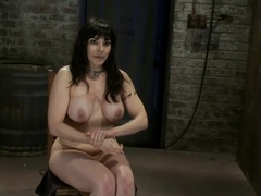 Hot busty lifestyle MILF is severely bound with only baling twineBondage hurts, this is brutal.
