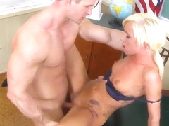 Blonde schoolgirl Maia Davis takes it