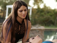 Exotic pornstars Aspen Rae, Darcie Dolce in Crazy Outdoor, Natural Tits porn movie