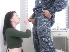 Athena and Miranda switch army stepdads for hot banging