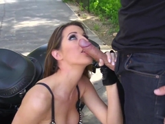 Keiran Lee screws Kortney Kane hard outdoor